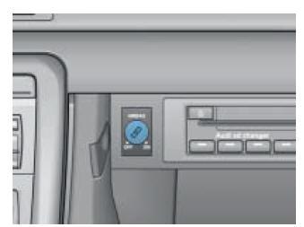 Désactivation de l'airbag côté passager